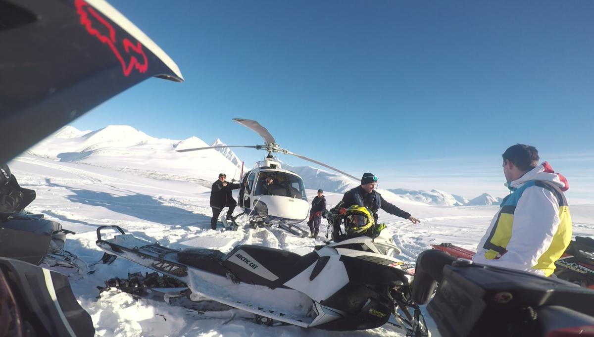 Jaktet på med helikopter (Bilde: Thomas Moaksen)